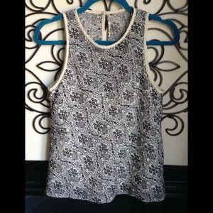 nanette lepore sleeveless blouse lined size 4